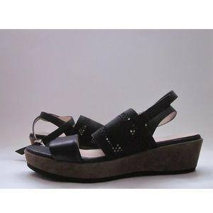 Aquatalia by Marvin K. Banjo Wedge Sandals Black